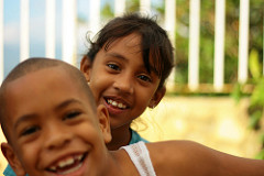 kids in the school garden, santiago de cuba.